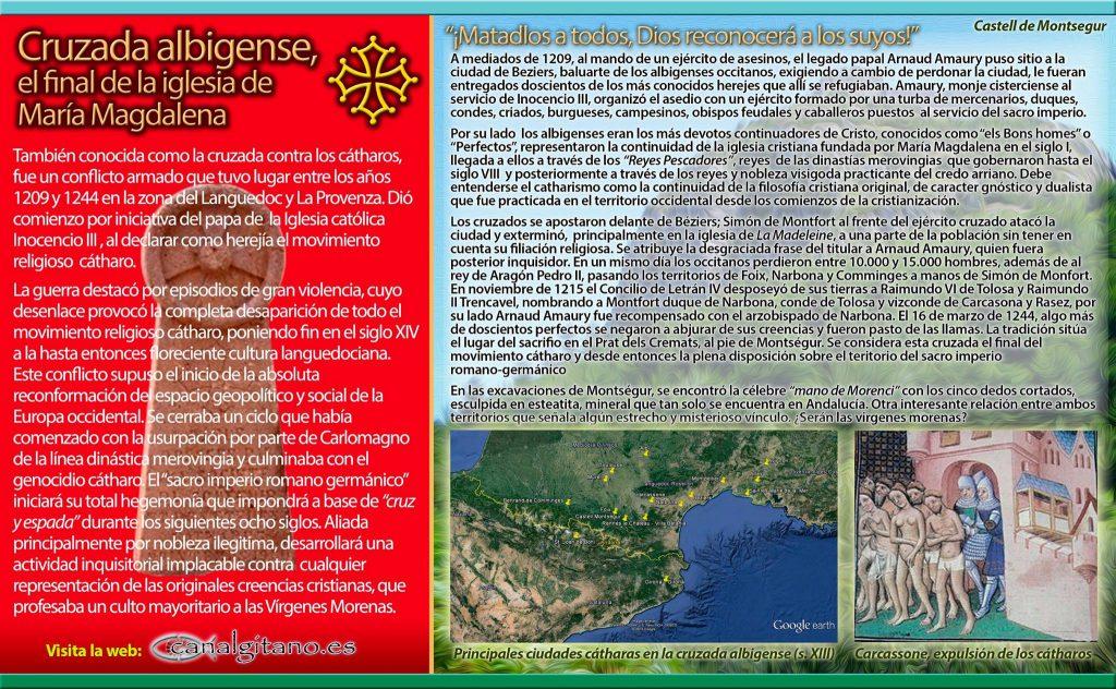 Canal Gitano - Cruzada Albigense, el final de la Igesia de Maria Magdalena - © ASR