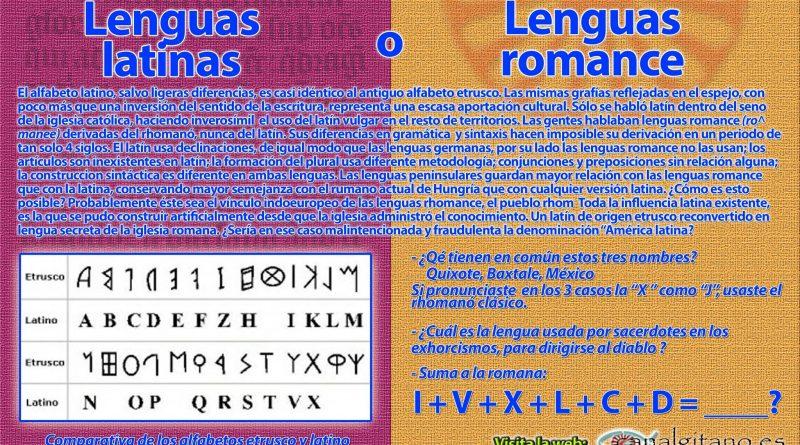 Lenguas latinas o Lenguas romance
