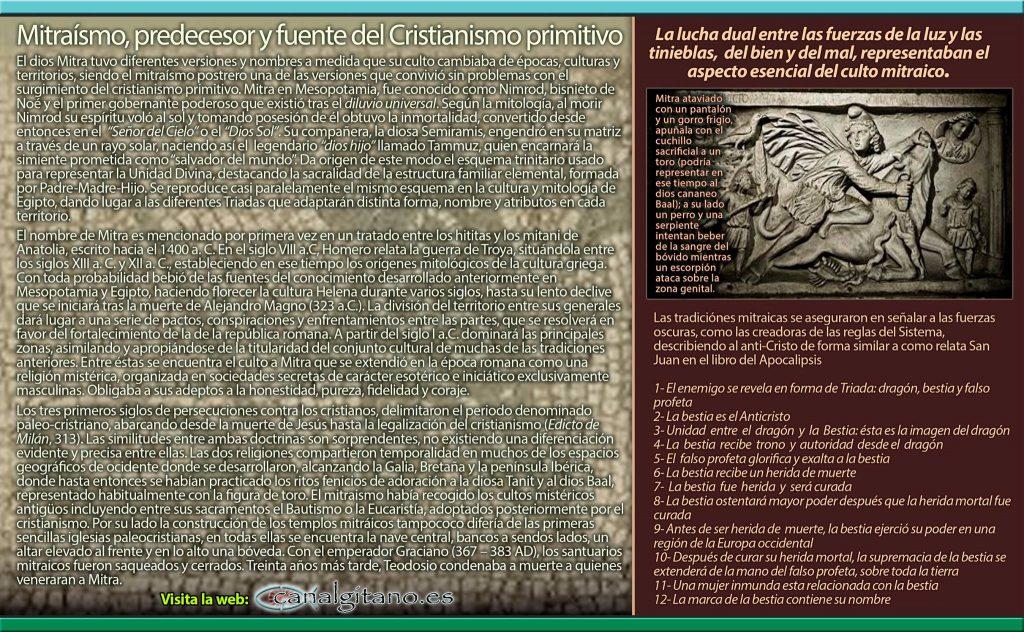 Canal Gitano - Mitraísmo, predecesor y fuente del Cristianismo primitivo- © ASR