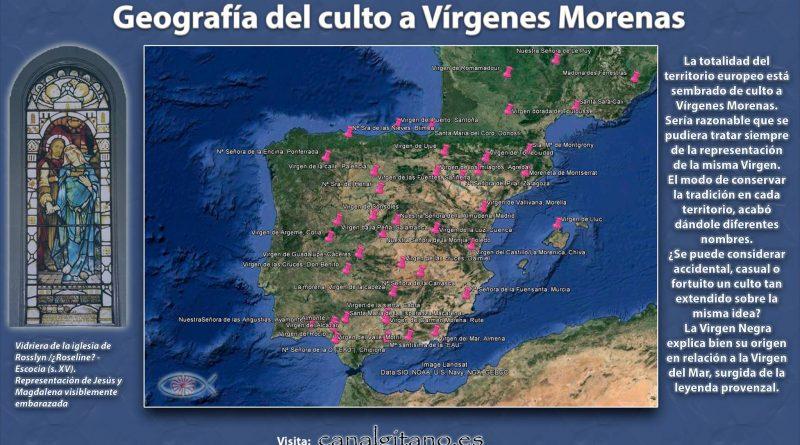Geografia del culto a Vírgenes morenas
